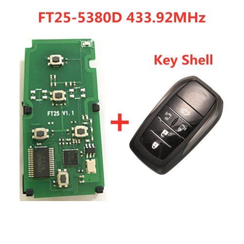 Lonsdor FT25-5380D PCB Board 433.92MHz Car Keyless-Go 4D Smart Remote Key for T-oyota/Alphard 2006-2016 Smart Control