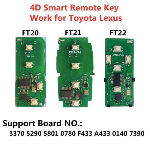 Lonsdor FT21-5801 314/433MHz K518 Smart Remote Key for S-ubaru 4D PCB Board work with K518