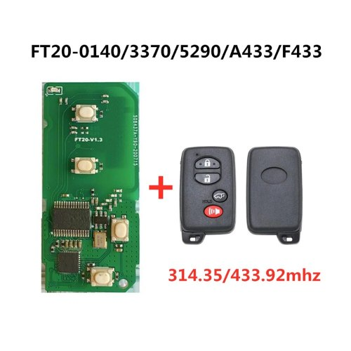 Lonsdor For Toyota/Crown/Prodo/Lexus Smart Key With  4D PCB Board FT20-0140/3370/5290/A433/F433 314/433MHz