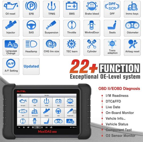 Autel MaxiDAS DS808K Automotive Diagnostic Scanner Car Scan Tool with OE-Level All Systems Diagnosis Than DS708 DS808