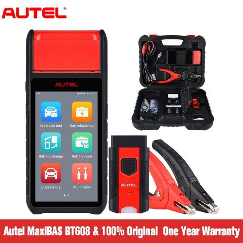Autel MaxiBAS BT608 Car Battery Tester with Adaptive Conductance, Charging System Test Scan Tool with BMS, All Systems Diagnosis