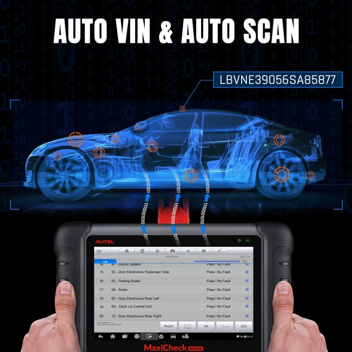 2021 Autel MaxiCheck MX808 Maxicom OBD2 Diagnostic Scanner All Systems And Service Functions Oil Reset EPB BMS SAS DPF TPMS IMMO