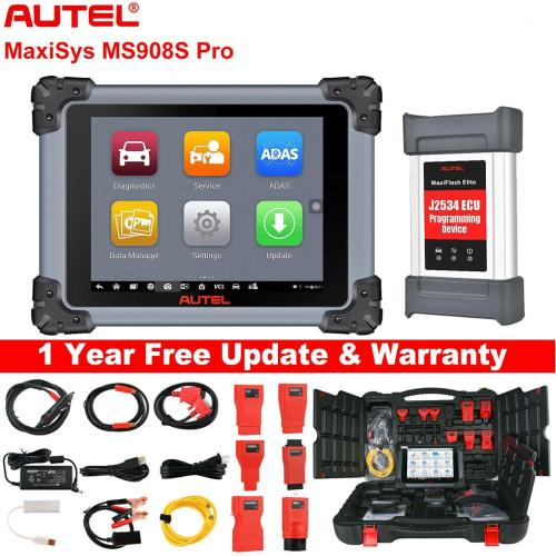 Autel Maxisys MS908S Pro MS908SP Automotive Diagnostic Scanner with ECU Coding and J2534 Programming Upgraded Version of MS908P