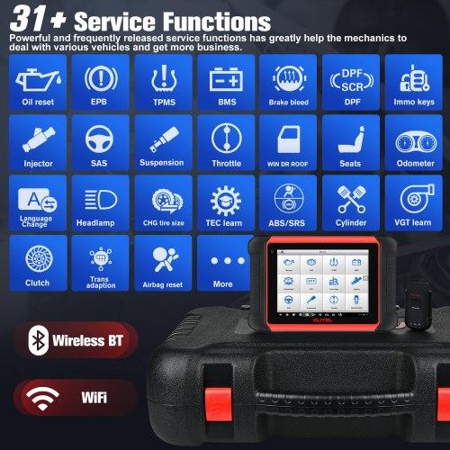 Autel MaxiCom MK906BT PRO ECU Coding Super Tablet Scanner Diagnostic Tool MS908P OBD2 Car Accessories Bluetooth-compatible+MV108