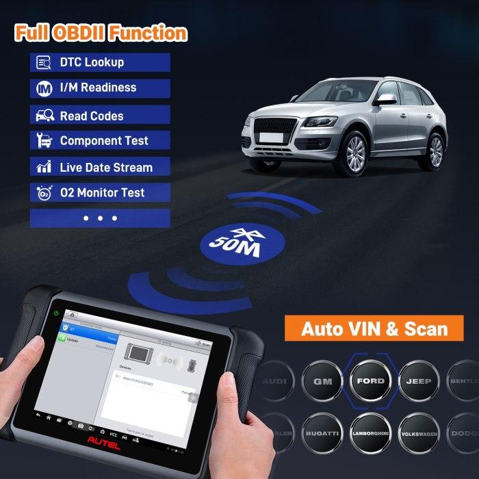 Autel MaxiSys MS906BT Scan Tool Car Diagnostic With ECU Coding, Active Test, IMMO Keys, OE-Level Diagnosis Oil Reset, EPB, SAS,