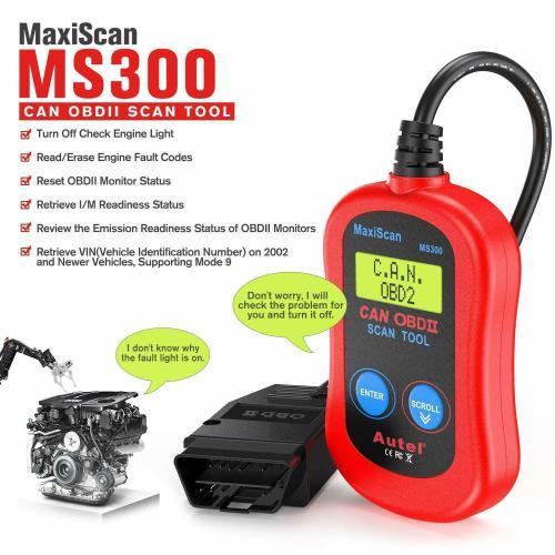 Autel MaxiScan MS300 OBD2 Car Accessories Diagnostic Vehicle Scan Scanner Automotive Scanner in Portuguese Brazil