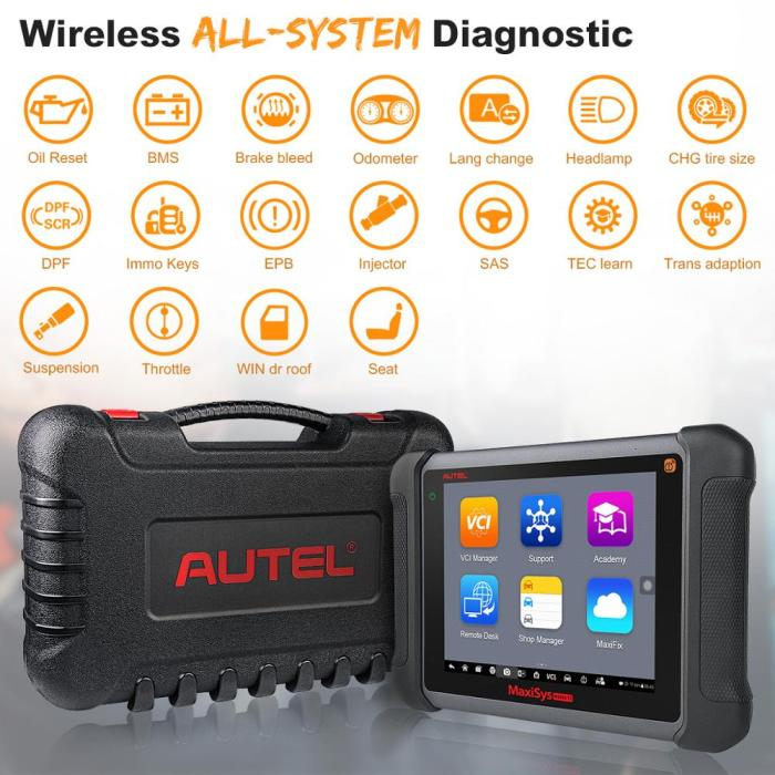 Autel MaxiSys MS906TS OBD2 Auto Diagnostic Tool All System TPMS programming tool  Scanner ECU Coding OE-level Diagnostic Scanner