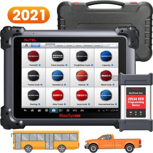 Autel Maxisys CV Scanner MS908CV Heavy Duty Truck Diagnostic Tool With J2534 ECU Programming Tool Commercial Vehicle Diagnostics