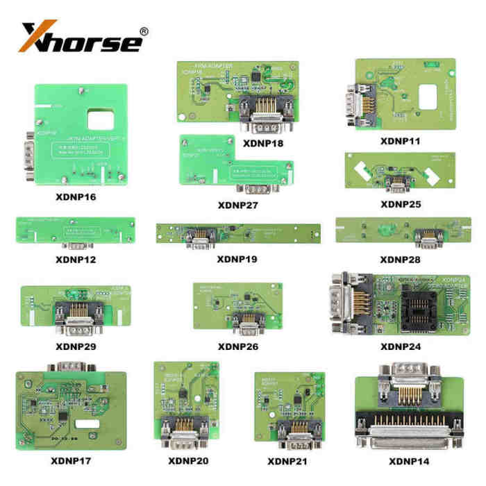 Xhorse Solder-Free Adapters Work with MINI PROG and KEY TOOL PLUS All Adapters are optional, work with both MINI PROG and KEY TOOL PLUS