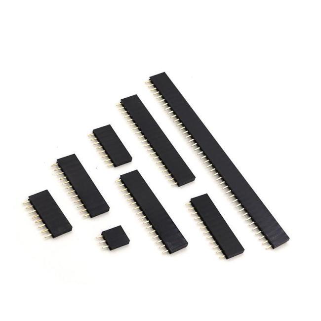 Row female single row female single row female seat row pin female seat 1 * 2P / 3 / 4 / 5 / 6-40p 2.54mm/2.0mm/1.27mm