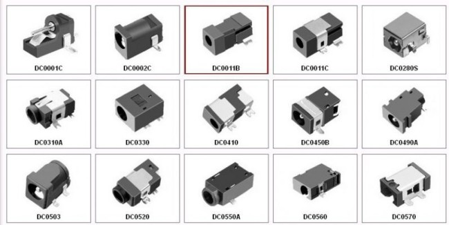 DC power plug and socket 005 / 022 connector 5.5 * 2.1/2.5/3.5mm male and female round hole
