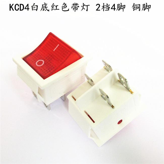 Kcd4 ship switch rocker power reset button 4 pin 6 pin 2 gear 3 gear with light 16A250V ship switch