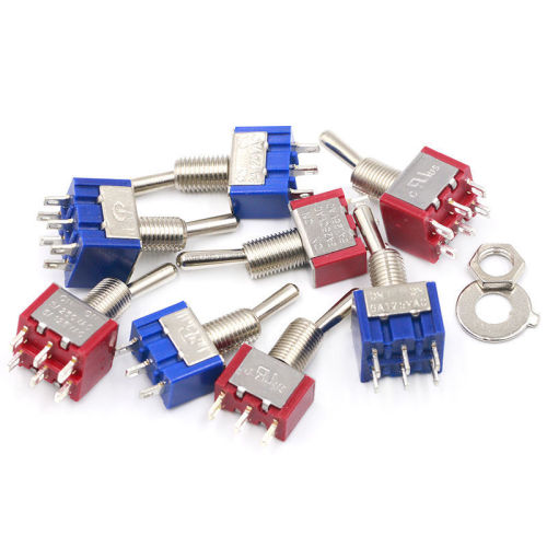 Toggle switch button switch mts-102 / 1033 / 202 / 203 3-pin / 6-pin two / three speed single / double rocker switch