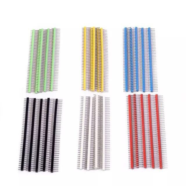 Color needle single row double row round copper needle spacing 2.54mm/1.27mm/2.0mm1 * 40p 2 * 40p straight needle curved needle