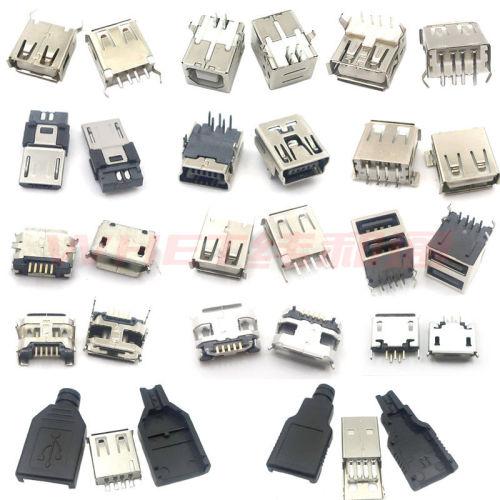 Mini USB  connector  Micro usb USB AF 2.0/3.0 USB BF USB socket ,type-c ,MK5P, USB data cable charging plug socket