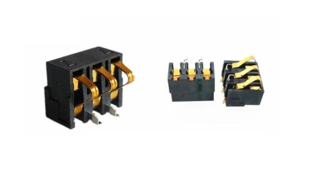 3P battery holder 68 / 77 battery holder 6.8mm/7.7mm high 3P shrapnel battery connector shrapnel gold plating