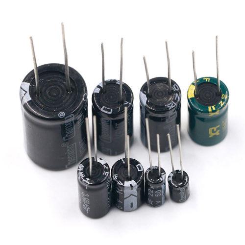 直插铝电解电容器元件16/25V/35v/50/10/47/100/220/1000/2200uf