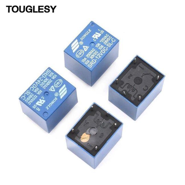 Relay small SRD / T73 Mini SLA / T90 JQC-3FF SLA 05 / 5 / 12 / 24 V DC power