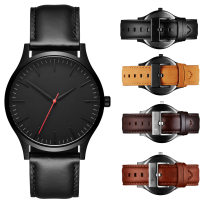 2020 Amazon EBay Hot Sale Factory Simple Large Dial No Logo Mens Watch Leather Watch Custom Logo