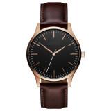 2020 Amazon EBay Hot Sale Factory Simple Large Dial No Logo Mens Watch Leather Watch Custom Logo