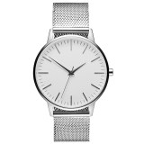 Fashion Luxury Japan Movement Waterproof Men's Steel Mesh Band Wristwatches Quartz Watch
