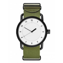 Custom Cheap Price Simple Canvas Nylon Strap Retro Thin Section Quartz Watches For Men