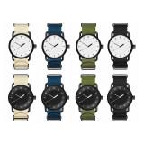 Custom Cheap Price Simple Canvas Nylon Strap Retro Thin Section Quartz Watches For Men