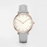 China Custom Logo Minimalist Leather Quartz Watch