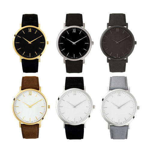 Factory OEM Custom Logo Leather Quartz Watch
