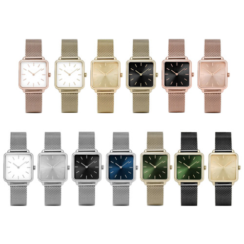 2021 Custom Rectangle Wrist Watch Quartz Watches
