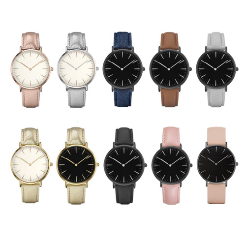 OEM Leather Strap Couple Wrist Quartz Watches