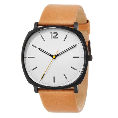 Minimalist Leather Strap Mens Quartz Watch