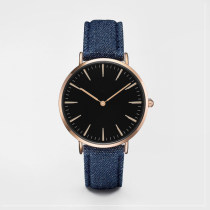 China Custom Logo Minimalist Leather Quartz Watch