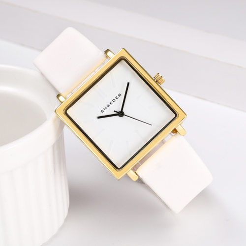 OEM Custom Logo Manufacturers Fashion Gold Lady Quartz