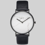 OEM Custom Simple fashion couple marble dial belt Quartz Watches For Men
