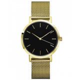 OEM Custom Leather Band Wristwatch Water Resistant Mens Wrist Watch Quartz