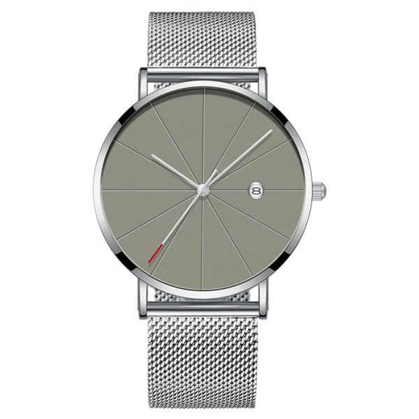 OEM Custom Simple Mesh Belt male Watches Wristwatches For Men