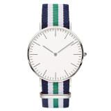 Color Matching Nylon Canvas Strap Quartz Watches