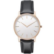 OEM Custom Leather Strap Couple No Logo Fashion Quartz Watches