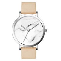 OEM Custom Simple fashion couple marble dial belt Quartz Watches For Men