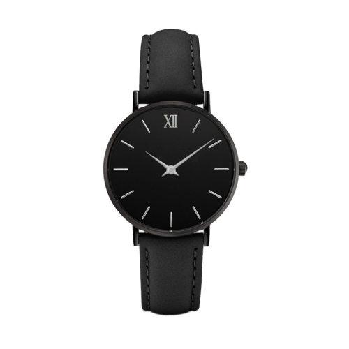 Custom Logo Big Dial Men Watches Full Black Watch