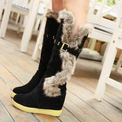 Low Heel Pu Date Boots