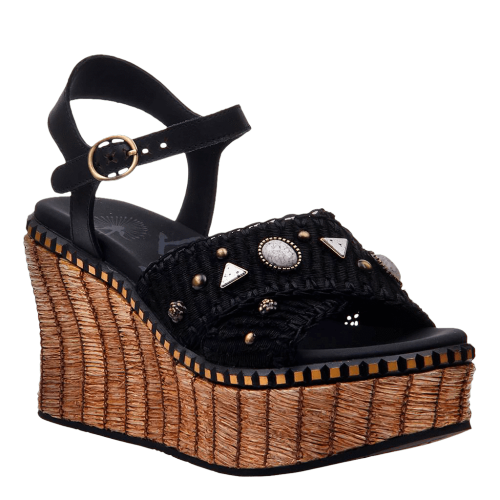 CAHOOT in BLACK Wedge Sandals