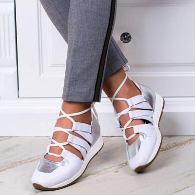 Athletic Style Lace Up Spring Sneakers