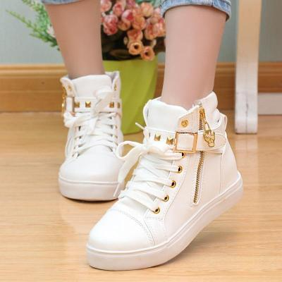 Canvas casual shoes woman 2020 fashion breathable zipper sneakers women shoes solid white buckled ladies shoes women sneakers