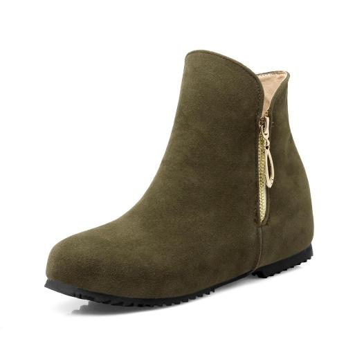 Flock Short Boots Plus Size Women Shoes 6128