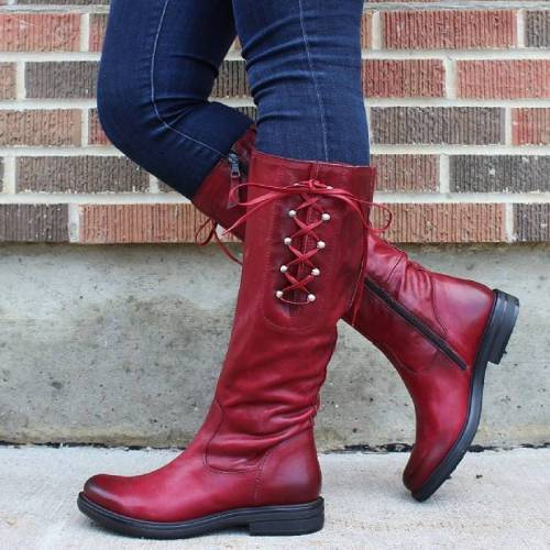 Daily Comfortable Low High Lace up Boots