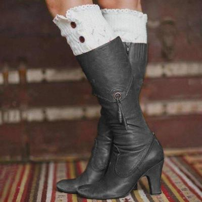 All Season Women Elegant Mid Heel Boots