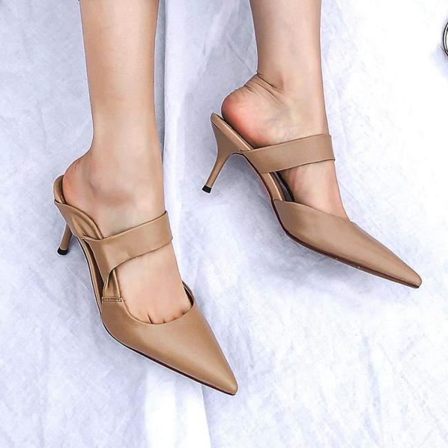 Sexy Mid-Heel Slippers