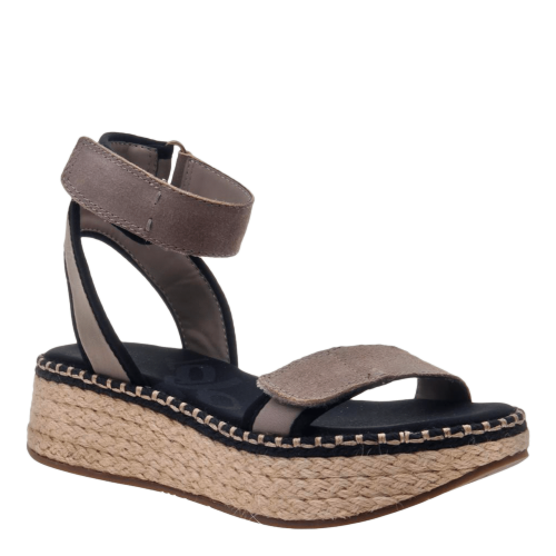 REFLECTOR in STONE Wedge Sandals